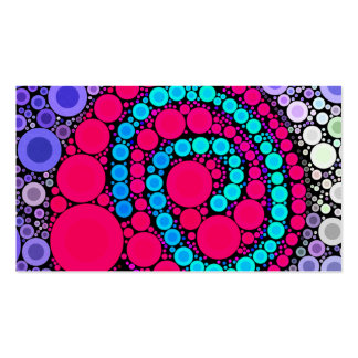 Retro Concentric Circles Cool Swirl Pattern Business Card Templates
