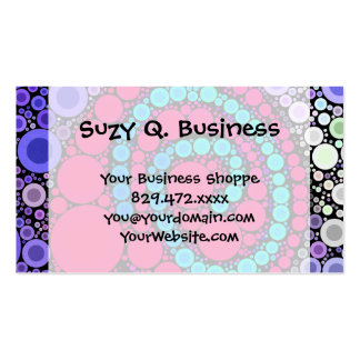 Retro Concentric Circles Cool Swirl Pattern Pack Of Standard Business Cards