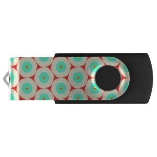 Retro concentric rings in pastels USB flash drive