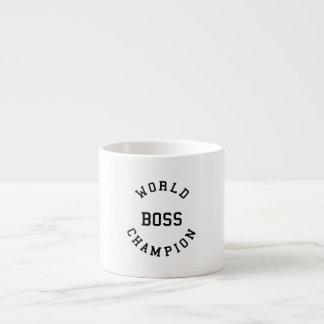 Retro Cool Gifts for Bosses : World Champion Boss Espresso Mug
