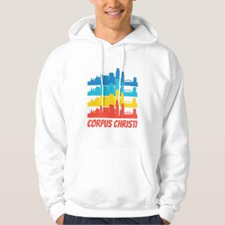 Retro Corpus Christi TX Skyline Pop Art Hoodie