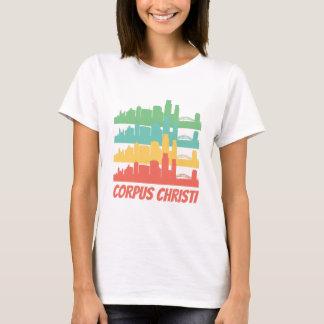 Retro Corpus Christi TX Skyline Pop Art T-Shirt
