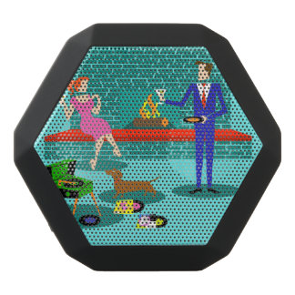 Retro Couple with Dog Boombot Rex Speaker