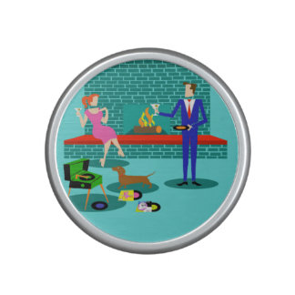 Retro Couple with Dog Bumpster Speaker