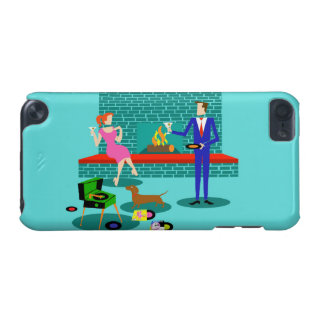 Retro Couple with Dog iPod Touch Case