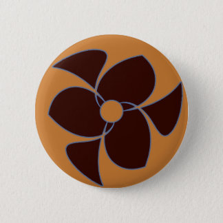 Retro Crescent Spiral Triquerta Autumn 6 Cm Round Badge