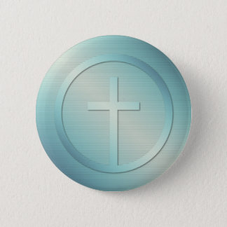 Retro Cross Emblem Graphic 6 Cm Round Badge