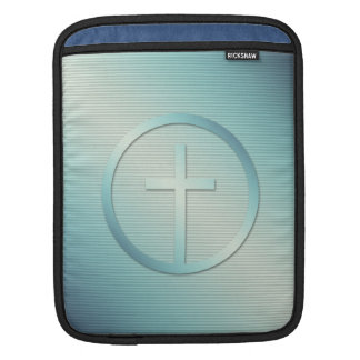 Retro Cross Emblem Graphic iPad Sleeve