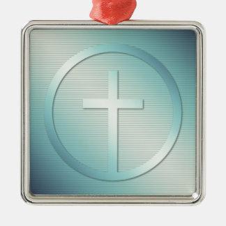 Retro Cross Emblem Graphic Metal Ornament