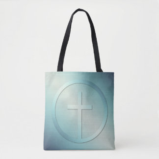 Retro Cross Emblem Graphic Tote Bag