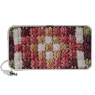 Retro cross stitches doodle speaker
