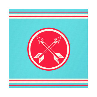 Retro Crossed Arrows Tribal Hipster Wrapped Canvas