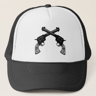 Retro Crossed Pistols Trucker Hat