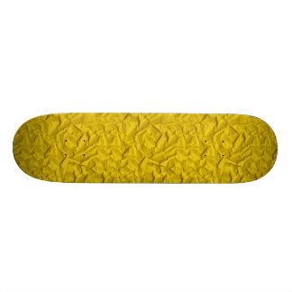 Retro Crumpled Yellow Paper Skateboards