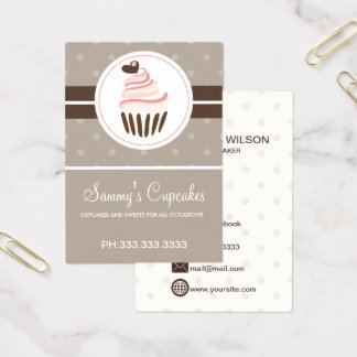 retro Cupcake Bakery business cards