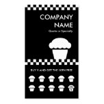 retro cupcake checkers punchcard pack of standard business cards