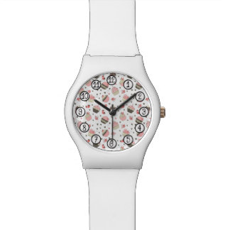 Retro Cupcake Pattern Watch