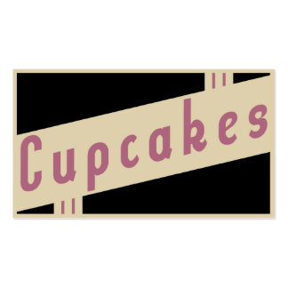 retro cupcakes pack of standard business cards