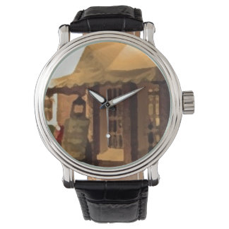 Retro Custom OPEN COFFE Watch