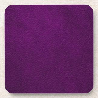 Retro Custom Purple Leather Coasters