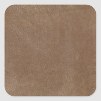 Retro Custom Tan Suede Square Stickers