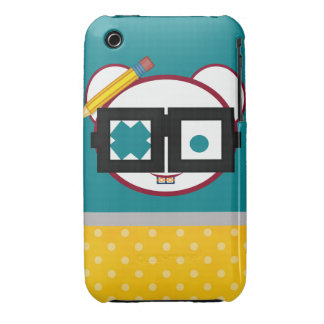 Retro Cute Nerd Oodle iPhone 3 Cover