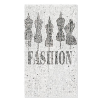Retro Cute Vintage Tailor Dress Forms Pack Of Standard Business Cards