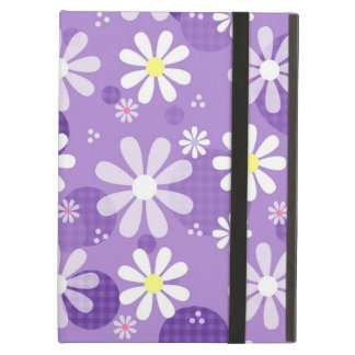 Retro Daisies Purple Gingham Circles iPad Air Case