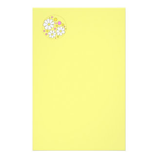 Retro Daisy Flowers Stationery