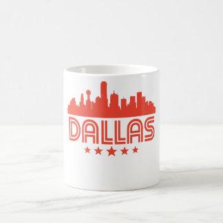 Retro Dallas Skyline Coffee Mug