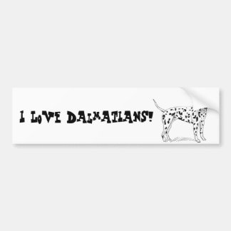 Retro Dalmatian Sketch Looking Aside Bumper Sticker
