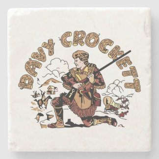Retro Davy Crockett Stone Coaster