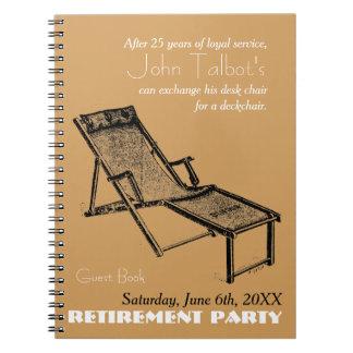 Retro Deckchair Retirement Party NoteBook 1