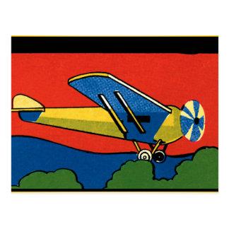 Retro Deco Plane Postcard