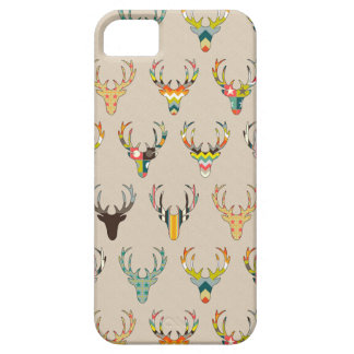 retro deer head on linen case for the iPhone 5