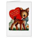 Retro Deer Valentine's Day Greeting Card