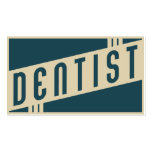 retro dentist pack of standard business cards