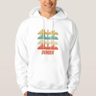 Retro Denver CO Skyline Pop Art Hoodie