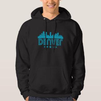 Retro Denver Skyline Hoodie