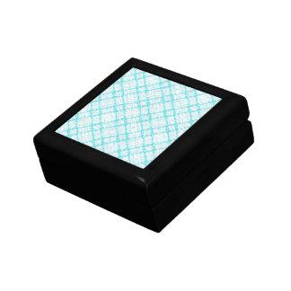 retro design checkered, aqua keepsake boxes