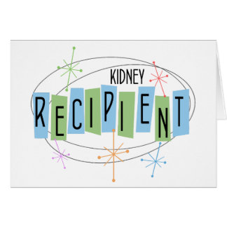 Retro design Kidney Transplant Recipient Card