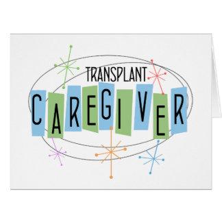 Retro design Transplant Caregiver Card