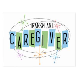 Retro design Transplant Caregiver Postcard