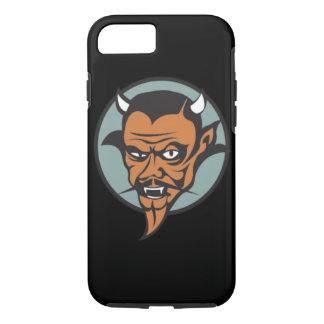 Retro Devil With Red Face Black Moustache iPhone 7 Case