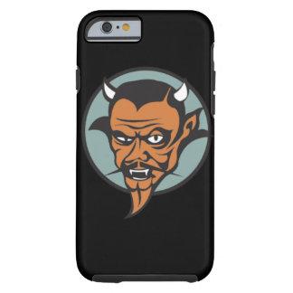 Retro Devil With Red Face Black Moustache Tough iPhone 6 Case