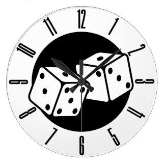 Retro Dice Large Clock
