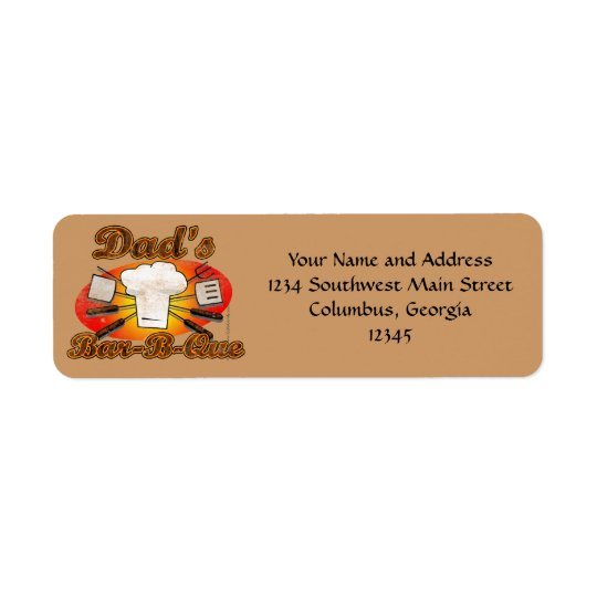 Retro Diner, Dad's Bar-B-Que Return Address Label