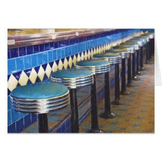 Retro Diner impressionism Card