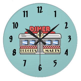 Retro DIner Large Clock