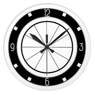 Retro Diner-Style kitchen clock (black and white)